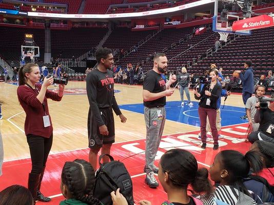 Detroit Pistons in the spirit of giving