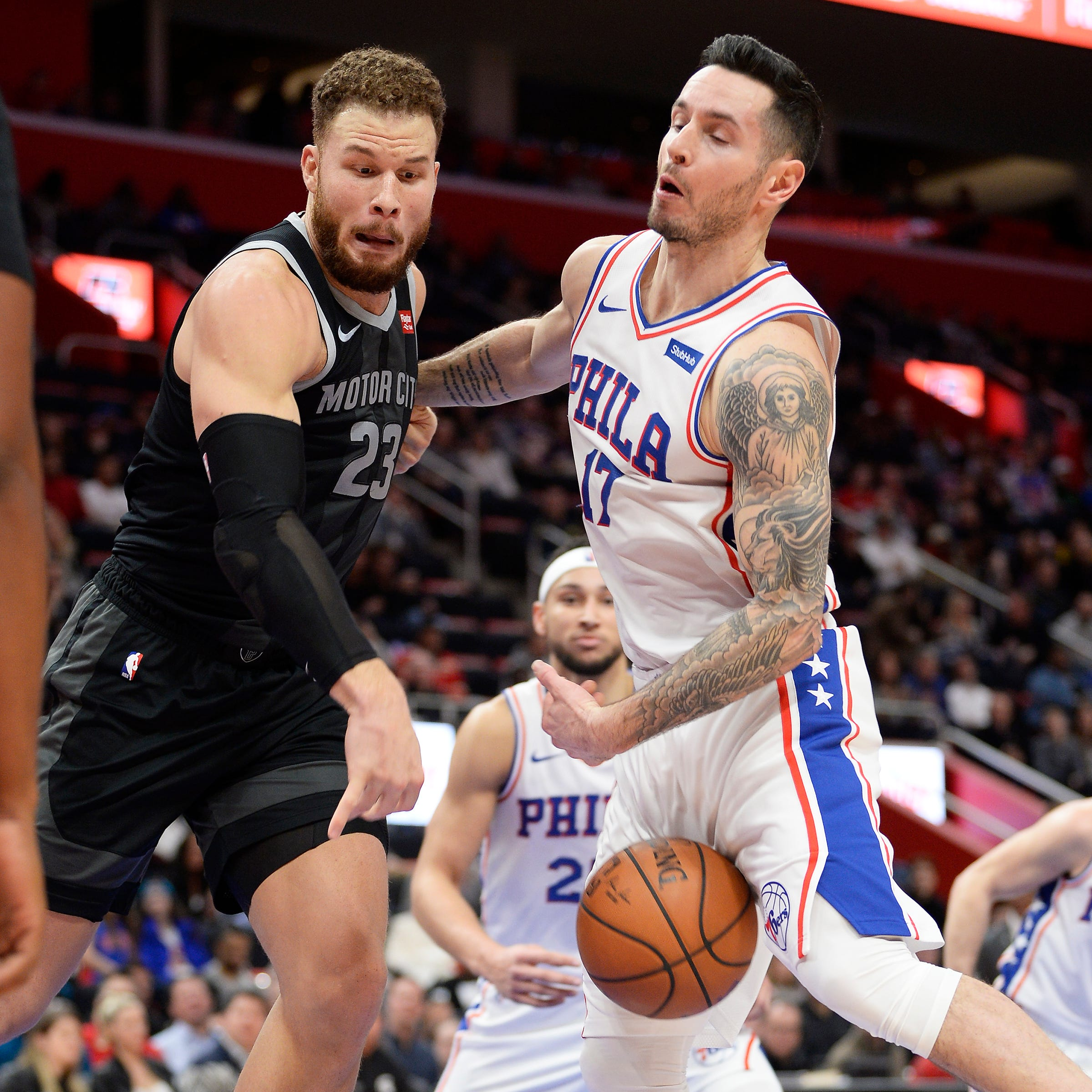 Without Embiid, Sixers still deal Pistons another loss