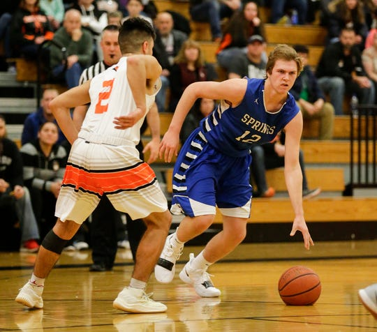 Aidan Ottery is the Ledgers' second-highest scorer, averaging 13.7 points per game. He earned 22 in St. Mary's Springs' game against Lomira.