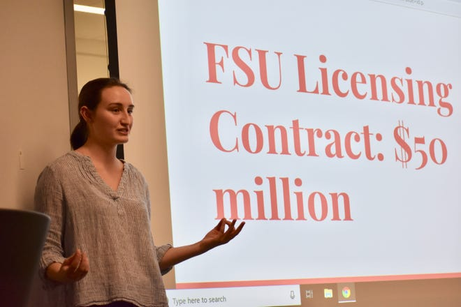 SLA co-founder Kinsey Kuhlman speaks about FSU's $50 million deal with Nike and the sweatshops associated with FSU apparel production.
