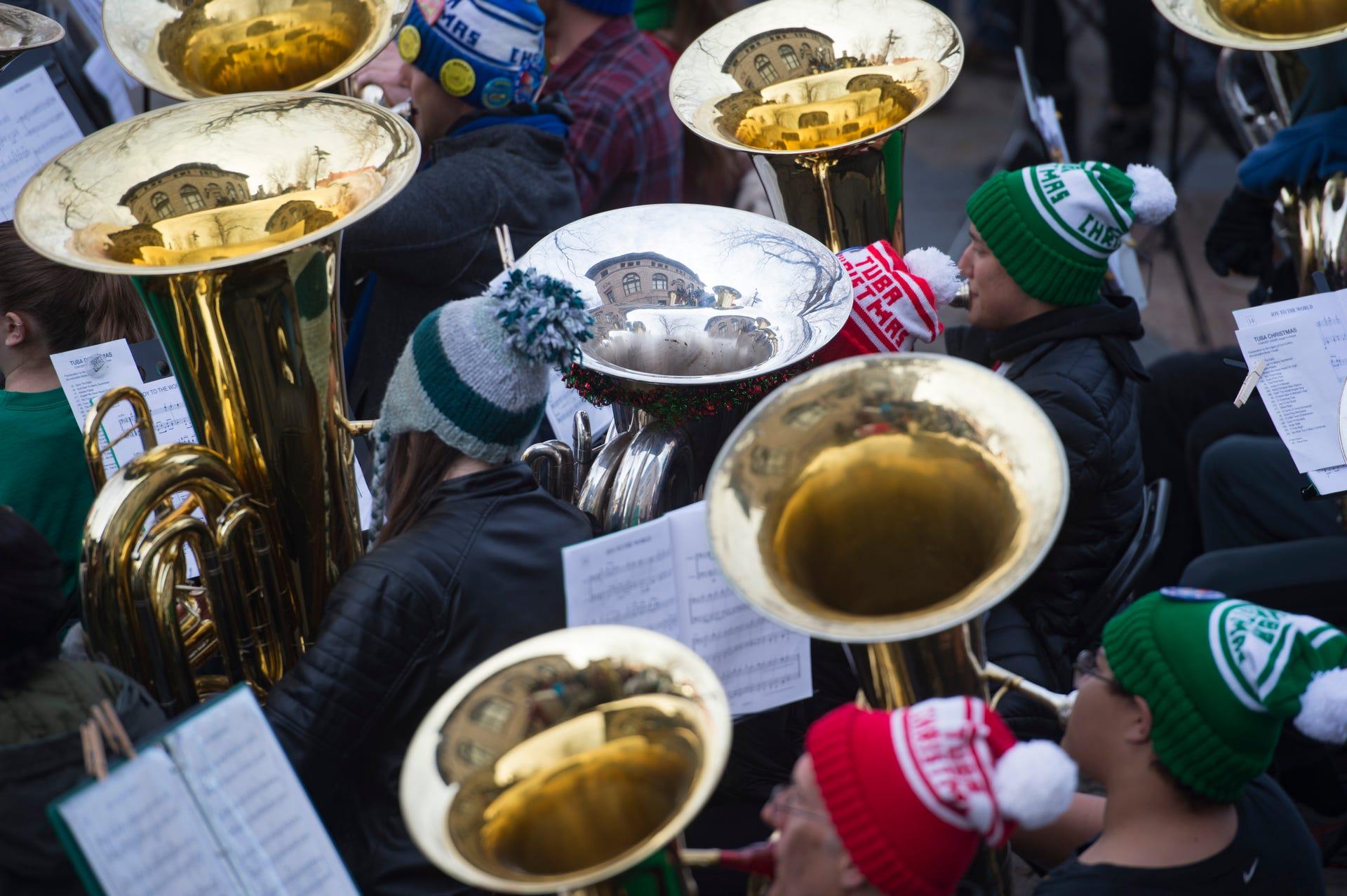 Tuba Christmas.Tuba Christmas Brings Holiday Tunes To Old Town