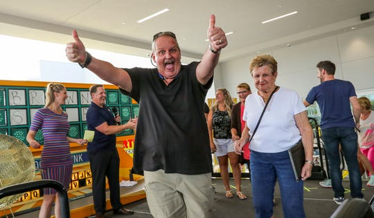 Steven Smith, of Cape Coral, said this was one of his top days after winning the fifth puzzle. Wheel of FortuneÕs Wheelmobile, the showÕs promotional vehicle, returned to the Fort Myers area for the first time in over a decade, searching for potential contestants to play on ÒAmericaÕs Game¨.Ó The first round of tryouts