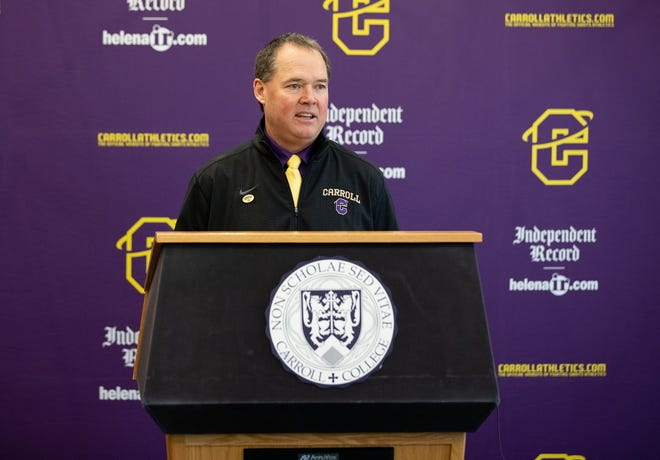 Troy Purcell was introduced as the new Carroll College football coach at a press conference in Helena.