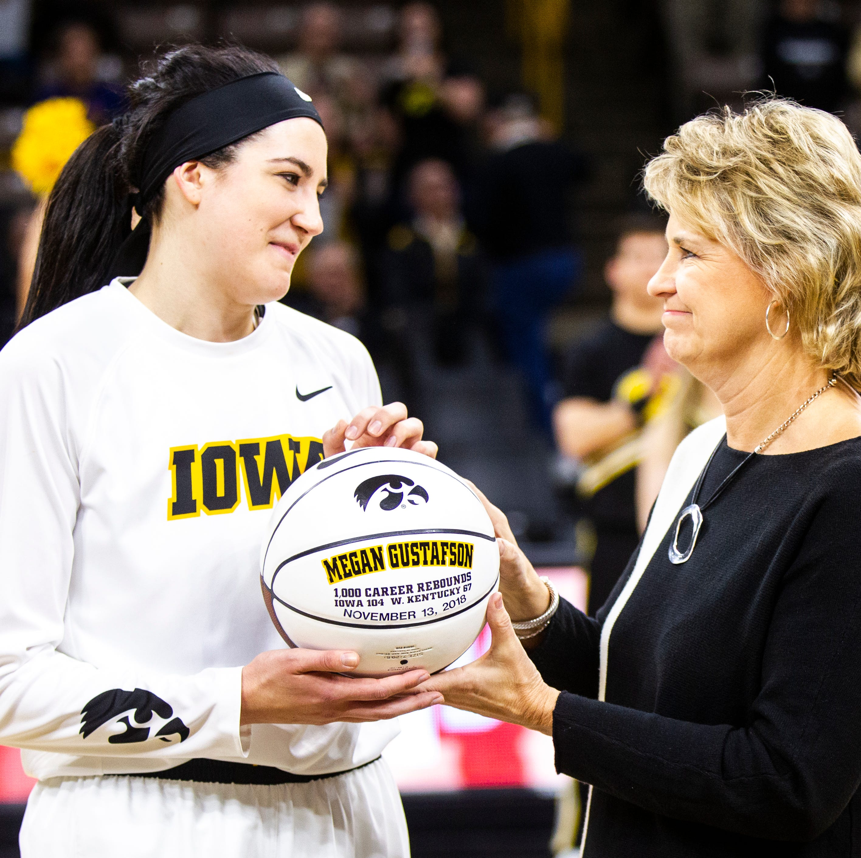 Iowa's Megan Gustafson caps 'amazing weekend' of awards with prestigious Naismith Trophy