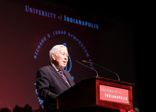 Former Sen. Richard Lugar speaks Saturday at the 42nd annual Richard G. Lugar Symposium for Tomorrow's Leaders.