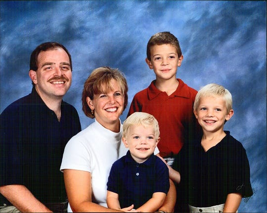 A family photo of the Hansen family (from left) Chuck, Mary, Jack, Carl and Evan.