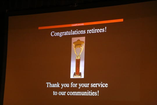 Sixteen local leaders who have retired or will soon be retiring were recognized at the 2018 Cornell University Town-Gown Awards.