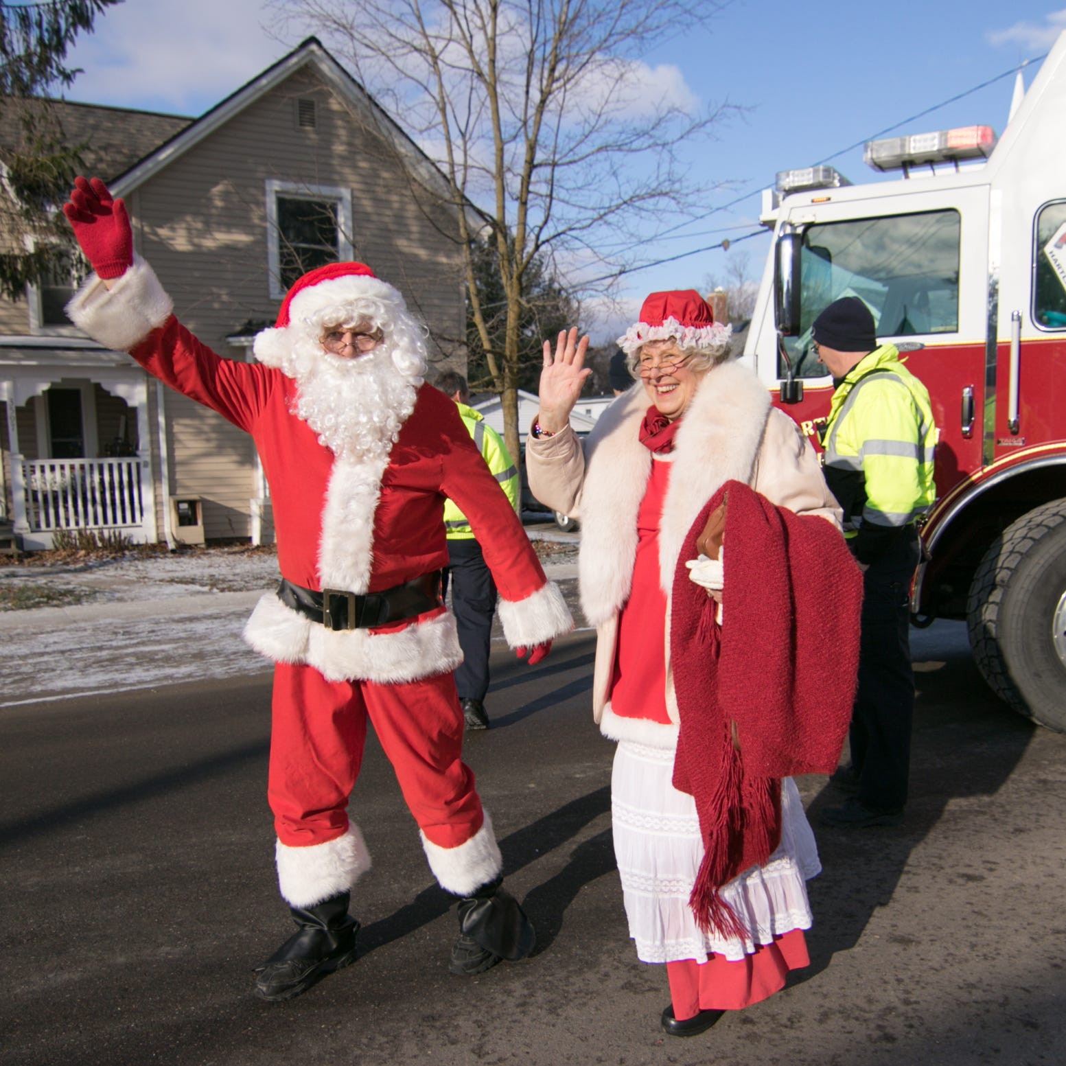 Trains, firetrucks and Santa are the stars of Polar Express Day
