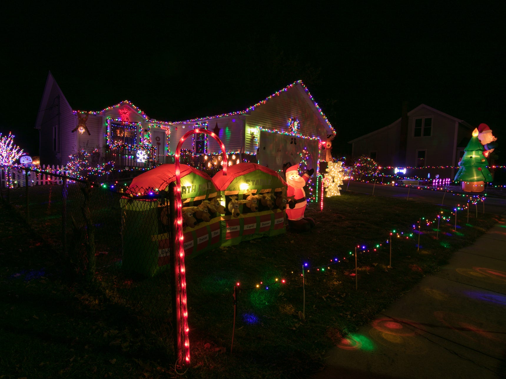 201 E. North St., Fowlerville, the home of Sean and Nancy Donohoe shown Thursday, Dec. 6, 2018. Vote on your favorite home by emailing gbenedict@livingstondaily.com by midnight of Jan. 2, 2019.