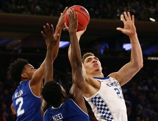 Ncaa Basketball Kentucky At Seton Hall