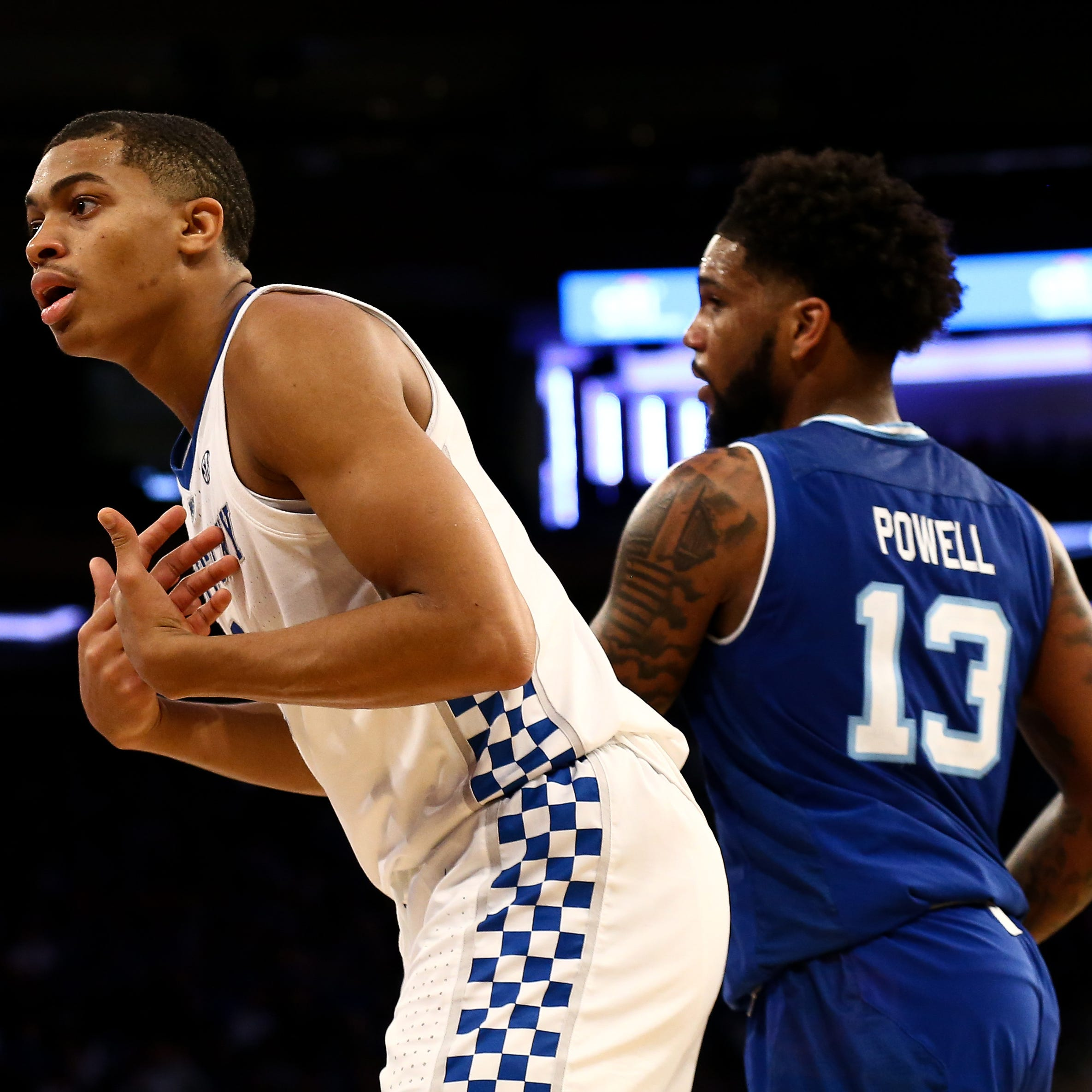 How far did Kentucky basketball fall after Seton Hall in the top 25?