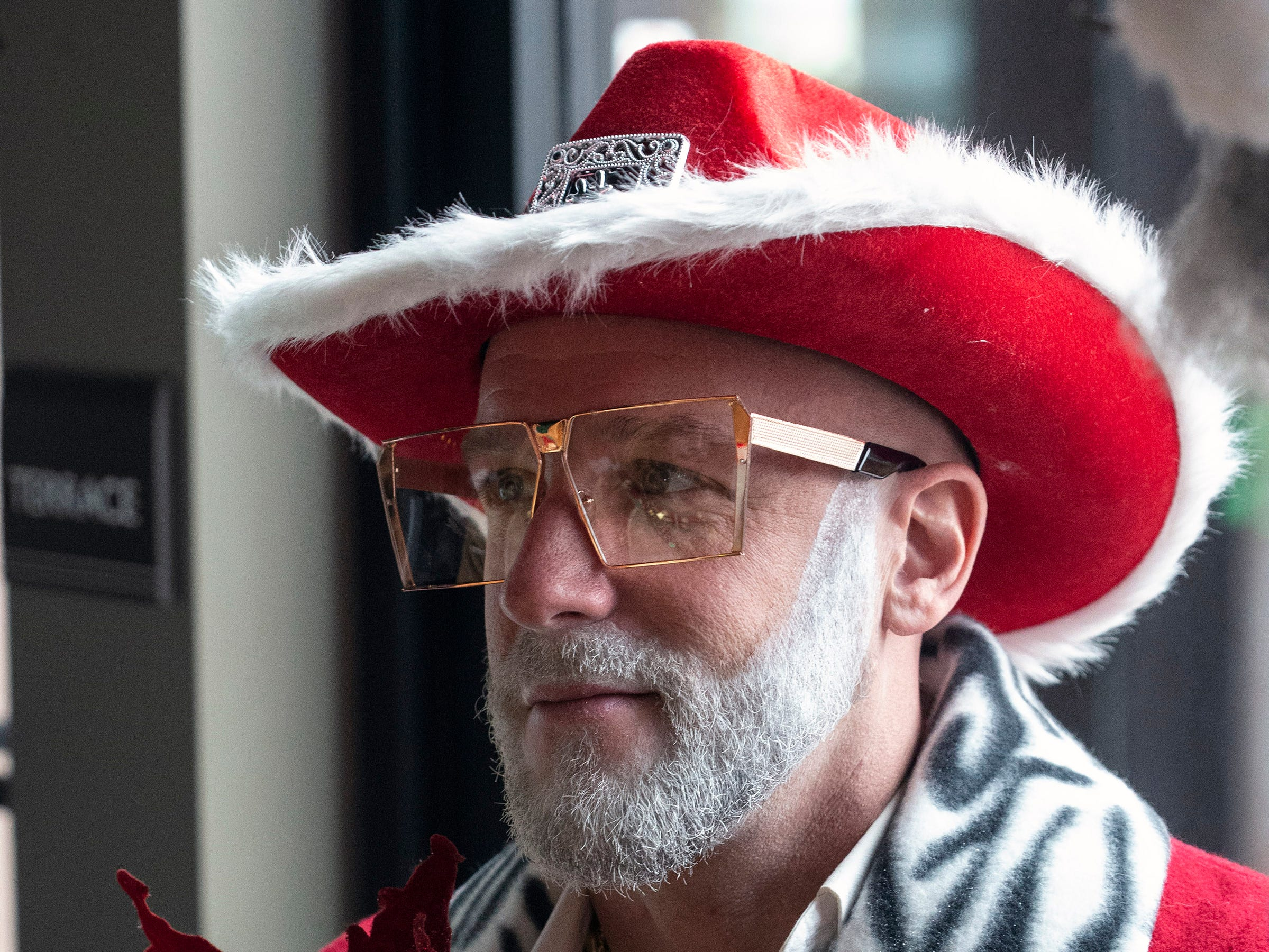 Brad Oister took his Santa style to a new level of cool during SantaCon on Saturday. 12/8/18