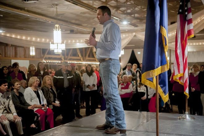 State Rep. Michael Meredith, R-Brownsville, speaks at a Republican Party rally in Bowling Green, Kentucky, on Nov. 5, 2018.