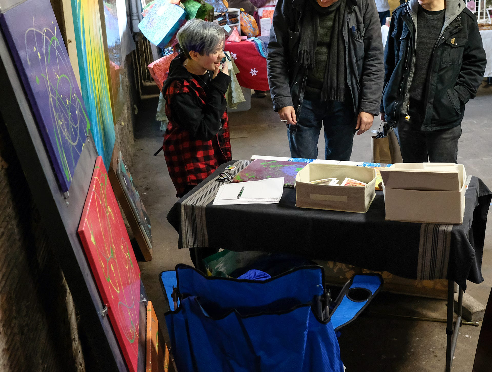 People like what they see at the Reo Town Marketplace Saturday, Dec. 8, 2018.
