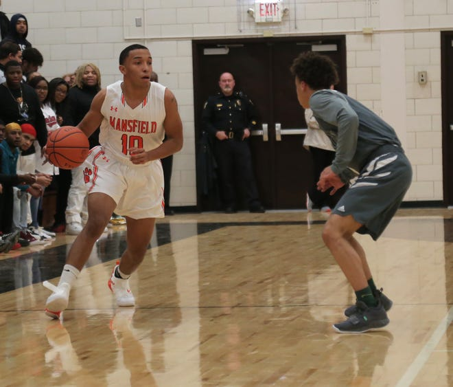 Mansfield Senior's Cameron Todd dribbles the ball at Malabar Middle School. The Tygers are the No. 1 team in the Richland County Power Poll thanks to two wins over the weekend.