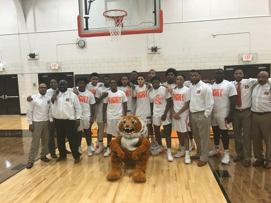 The Mansfield Senior Tygers pose for a team picture sporting their #JaidenStrong t-shirt after knocking off Madison last week.