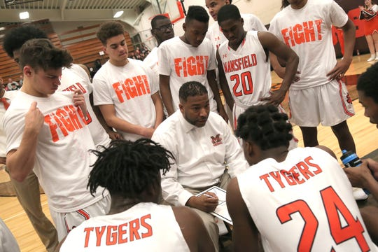 Mansfield Senior's Marquis Sykes came back to his alma mater with hopes of leading young men to become successful citizens.