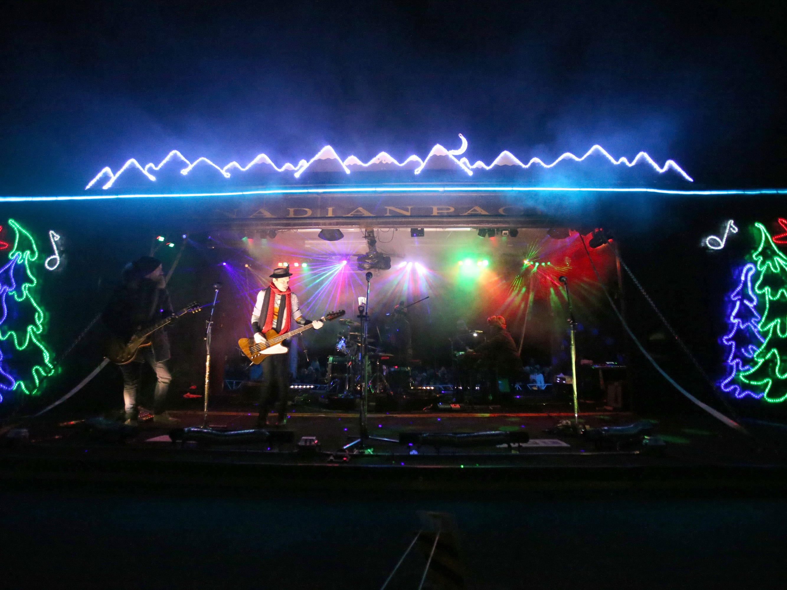 The Trews and Willy Porter perform once the Canadian Pacific Holiday Train stopped in Oconomowoc on Dec. 7.