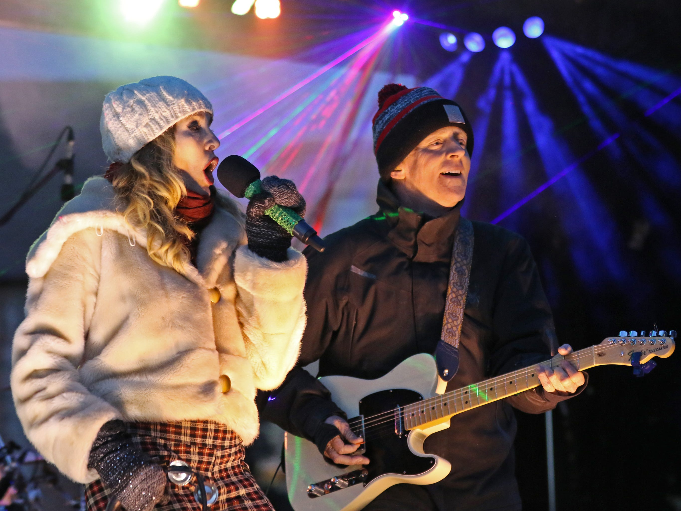 The Trews and Willy Porter, a Wauwatosa native, perform at the Canadian Pacific Holiday Train stop in downtown Wauwatosa on Dec. 7.