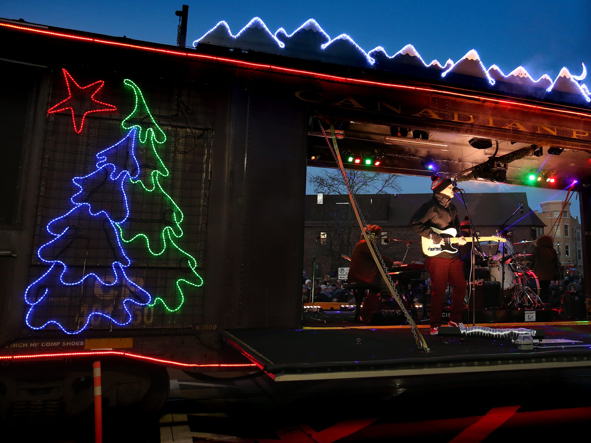 The Trews and Willy Porter perform at the Canadian Pacific Holiday Train stop in downtown Wauwatosa on Dec. 7.