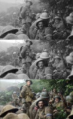 """The soldiers of World War I come alive again, courtesy """"Lord of the Rings"""" filmmaker Peter Jackson, in """"They Shall Not Grow Old."""" The new documentary, made from restored 100-year-old footage, is getting special showings Monday."""