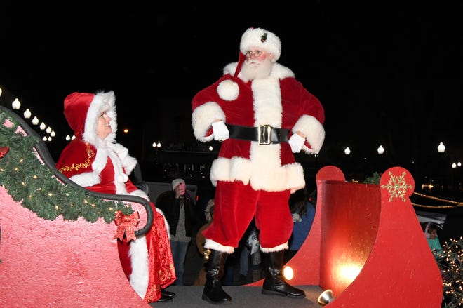 Santa and Mrs. Claus are always a highlight of the annual Mountain Home Chamber of Commerce Christmas Parade.