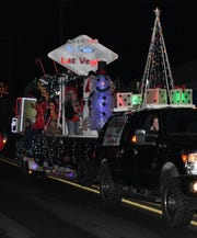 The Triton Boats float took first place in the Commercial Division at the annual Mountain Home Chamber of Commerce Christmas Parade.