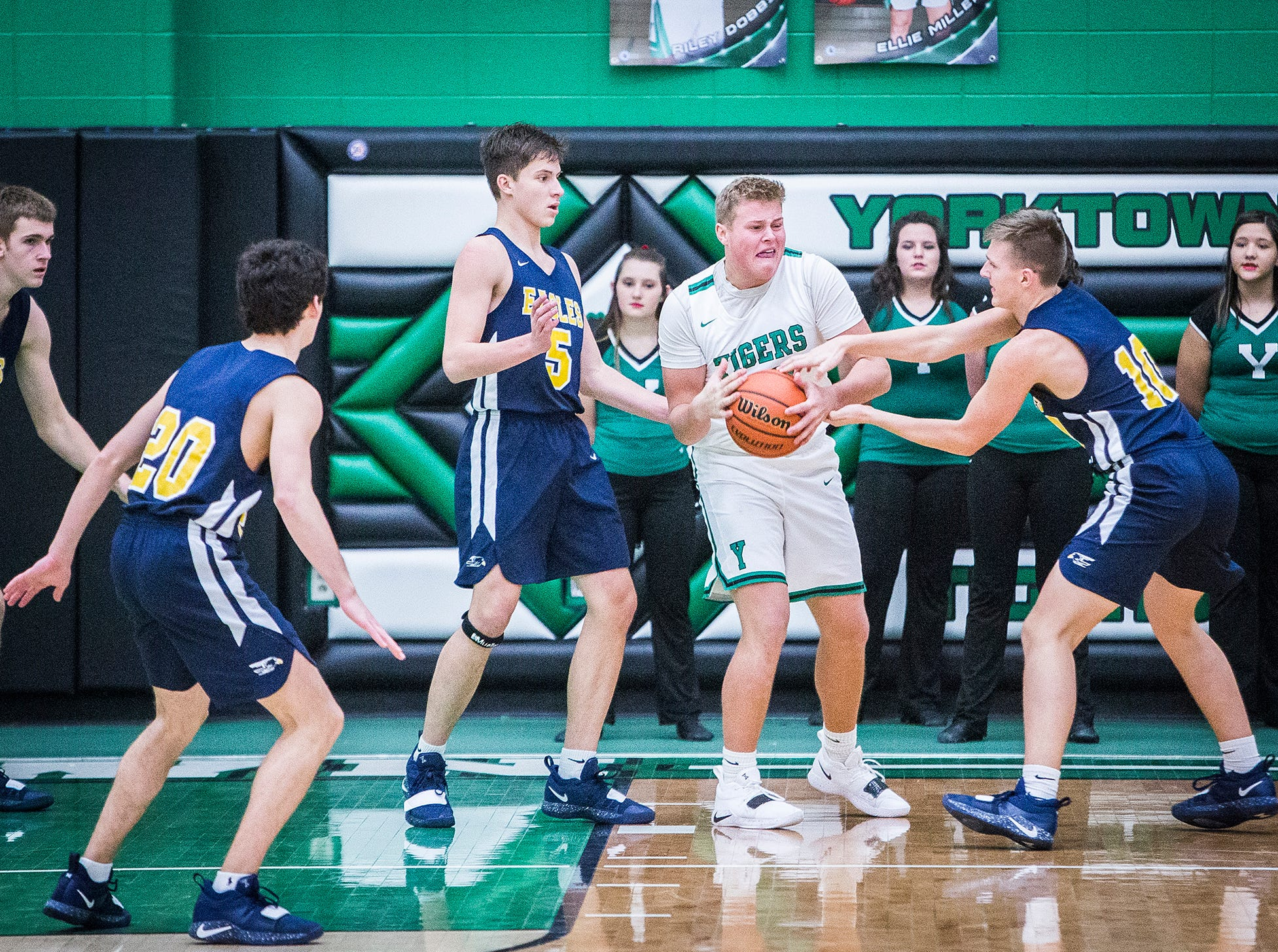Delta defeated Yorktown during their game at Yorktown High School Saturday, Dec. 7, 2018.
