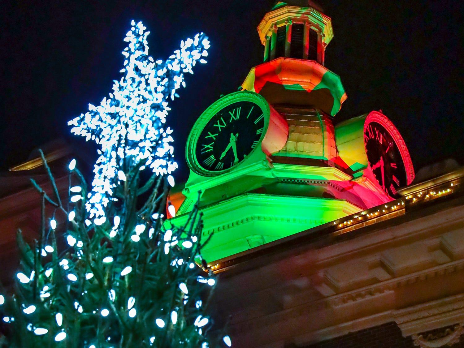 People gather for Main Street Murfreesboro's annual Christmas tree lighting on Friday, December 7, 2018, in Murfreesboro, Tenn.