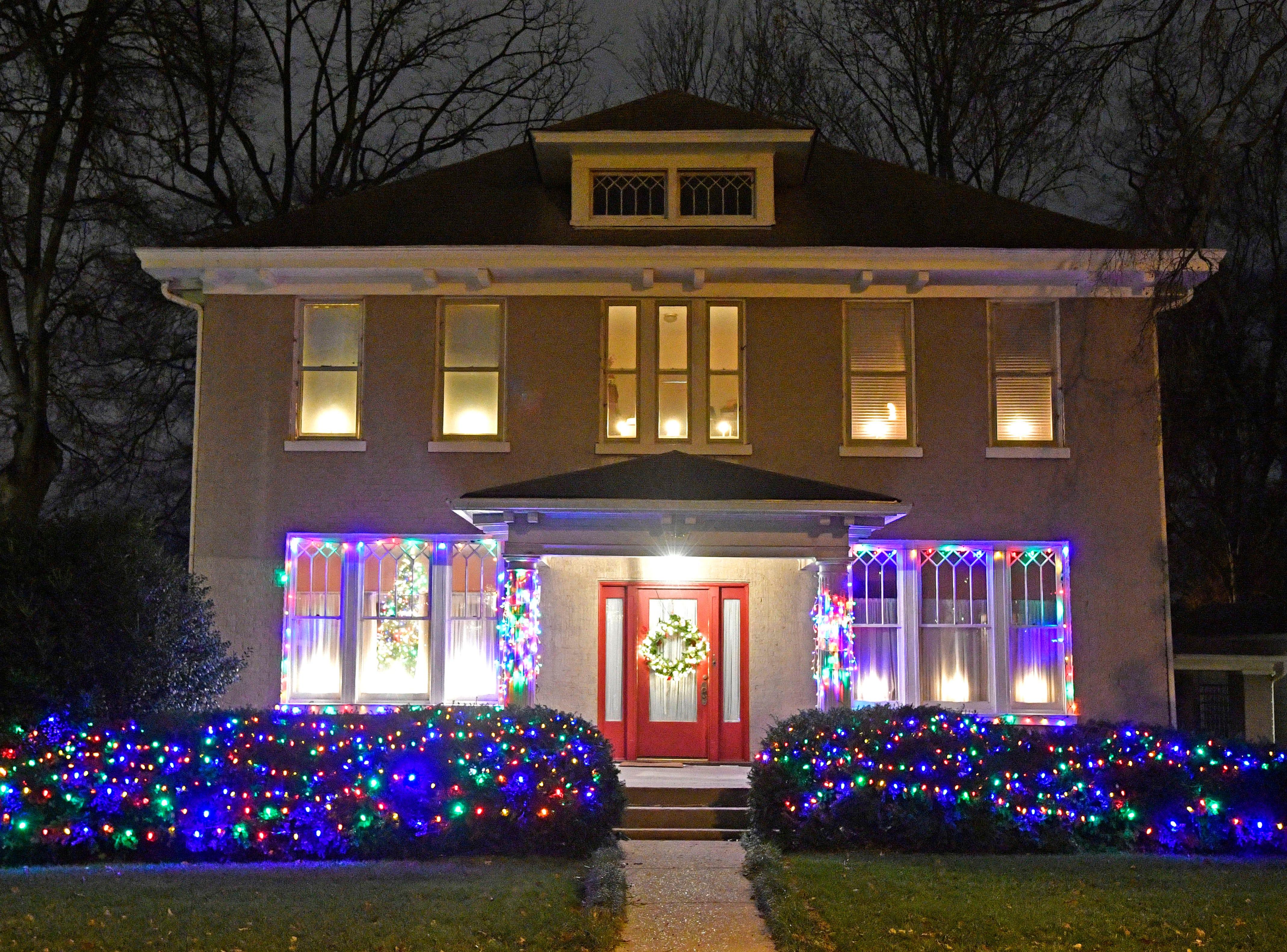 Christmas lights on Westmoreland Thursday Dec. 6, 2018, in Nashville, Tenn.
