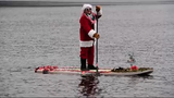 Annual Santa Paddle Board Takeover at Greenwood Lake on Saturday, December 8, 2018.
