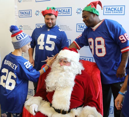 Tackle Kids Cancer A Philanthropic Program Benefiting The Children S Cancer Institute At The Joseph M Sanzari Children S Hospital At Hackensack Meridian Health Hackensack University Medical Center Hosted Breakfast With Santa At Hackensackumc Fitness Wellness Powered By The Giants In Maywood On December 8 2018
