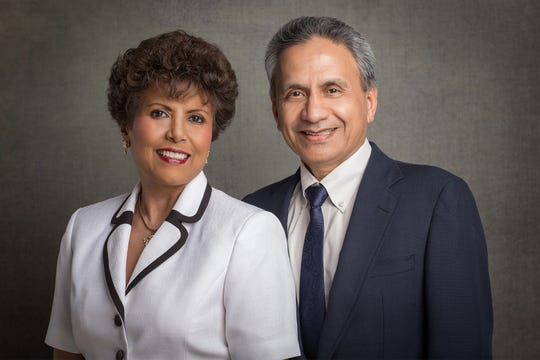 Ramakrishna and Ammu Devasthali received honorary degrees during New Mexico State University's fall commencement for their commitment and service to NMSU and the Las Cruces community.