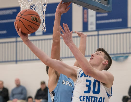 CC's Cooper Craggs (30) makes the shot.
