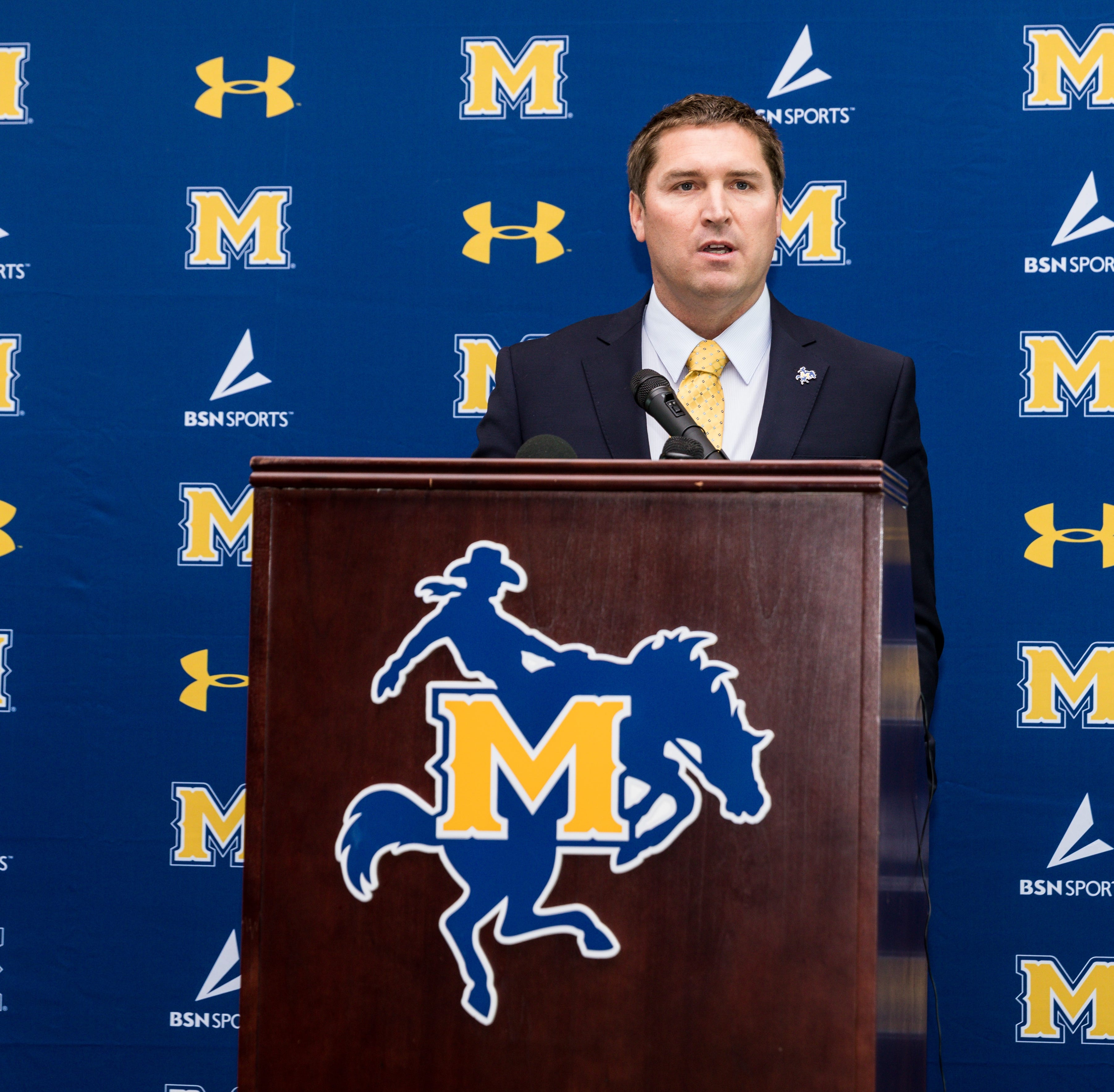McNeese introduces new football coach