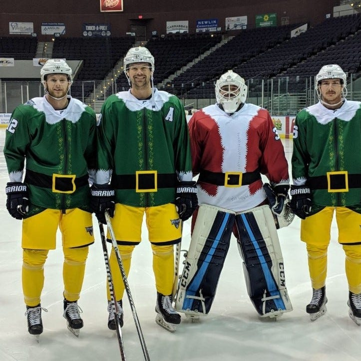 Ice Flyers break out Christmas-themed uniforms for game against Ice Bears