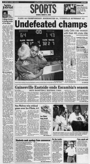 2000: Booker T. Washington girls defeated Titusville Astronaut, 64-43, for Class 4A title.