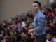 Scottsdale Bella Vista Prep head coach Kyle Weaver watches during the Hoophall West game against Spire Academy on Friday, Dec. 7, 2018, at Chaparral High School in Scottsdale, Ariz.