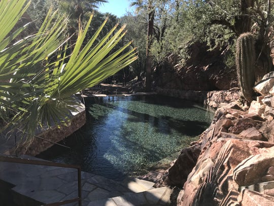 The hot springs of Castle Hot Springs.
