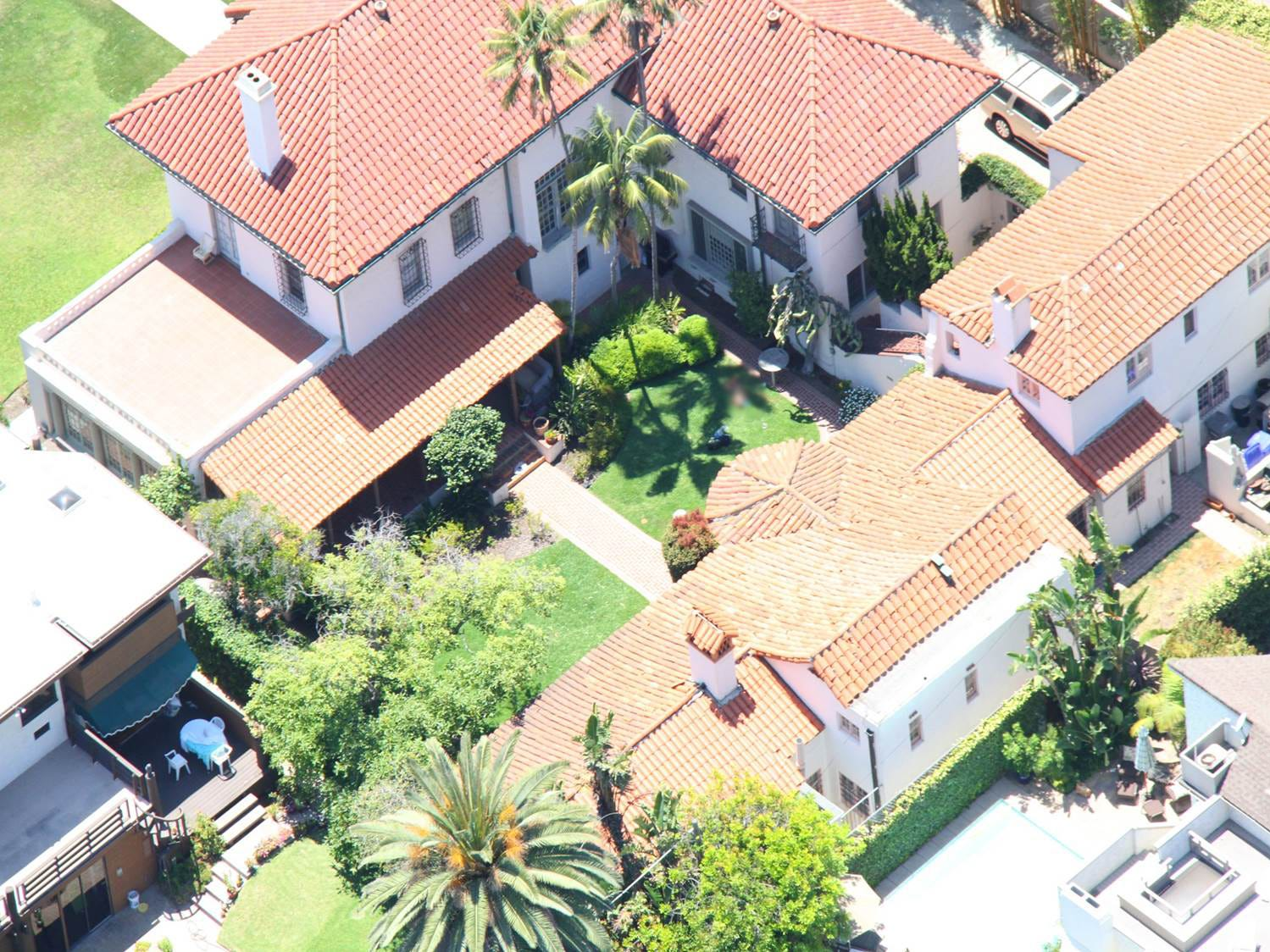 An aerial view of the Spreckels Mansion in Coronado, Calif., where Rebecca Zahau was found hanged in 2011.