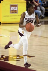 Arizona State University's Iris Mbulito against Southern during the first half of their game in Tempe, Friday, Dec. 7, 2018. Darryl Webb/Special for the Republic