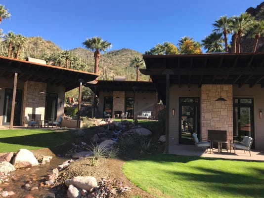 The bungalows at Castle Hot Springs
