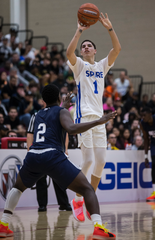 Spire Academy's LaMelo Ball attempts a shot against Scottsdale Bella Vista Prep during the Hoophall West game on Friday, Dec. 7, 2018, at Chaparral High School in Scottsdale, Ariz.