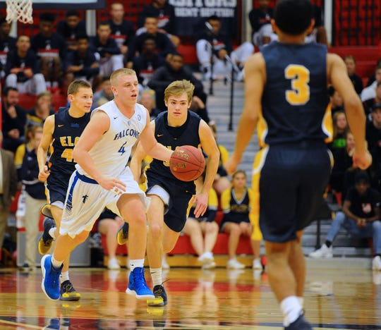 Logan Horn (4)  was both Cedar Crest's and Lebanon County's best player this past season, averaging close to 20 points per game.