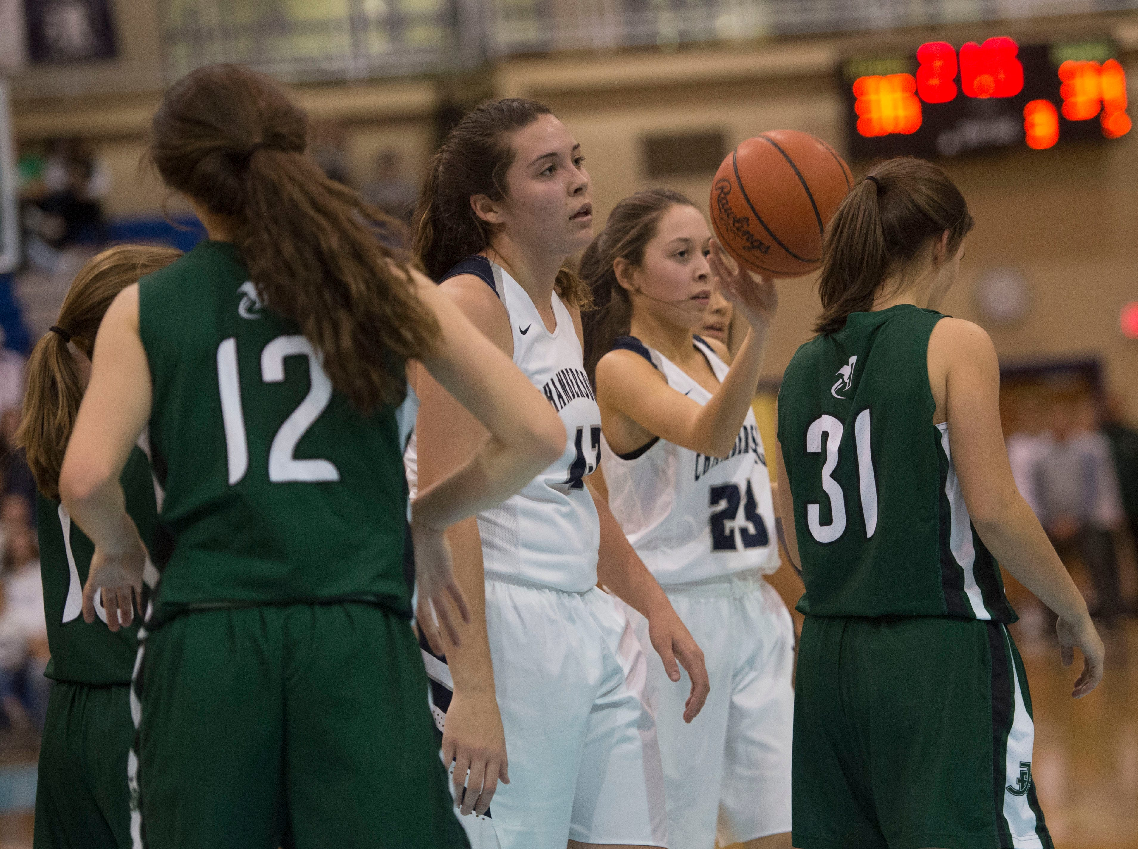Chambersburg played James Buchanan girls during the Franklin County Tip-Off Tournament, Friday, Dec. 7, 2018.