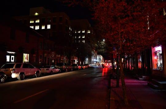East Philadelphia Street is dimly lit in York City, Friday, Dec. 7, 2018. Dawn J. Sagert photo