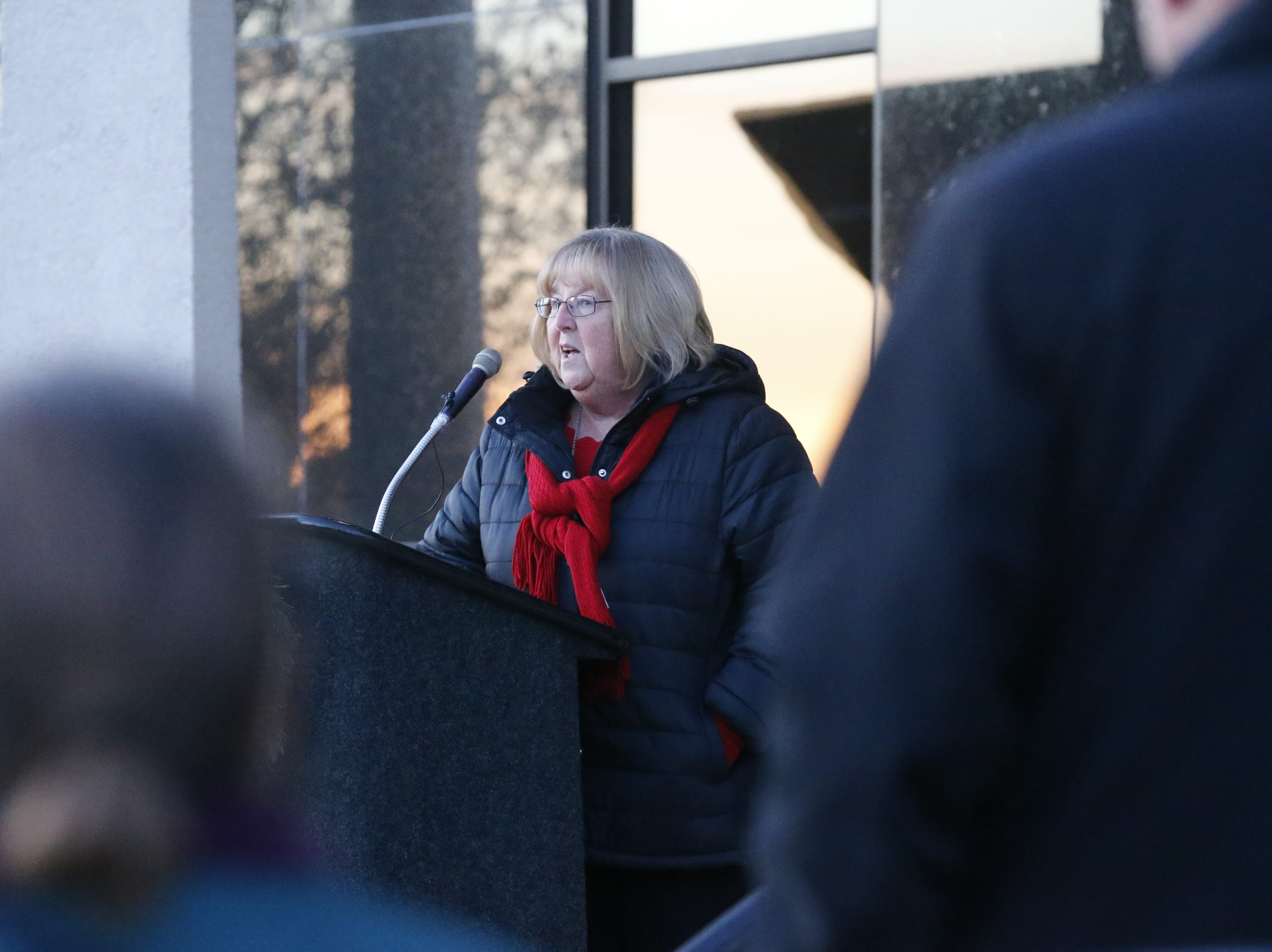 Diane Whitehead of the Richmond Police Department had the honor of lighting the city's tree on Friday, Dec. 7, 2018.