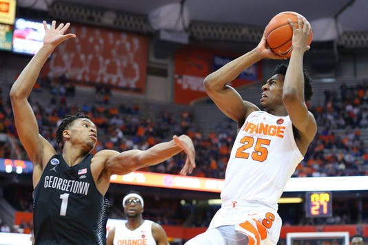 Ncaa Basketball Georgetown At Syracuse