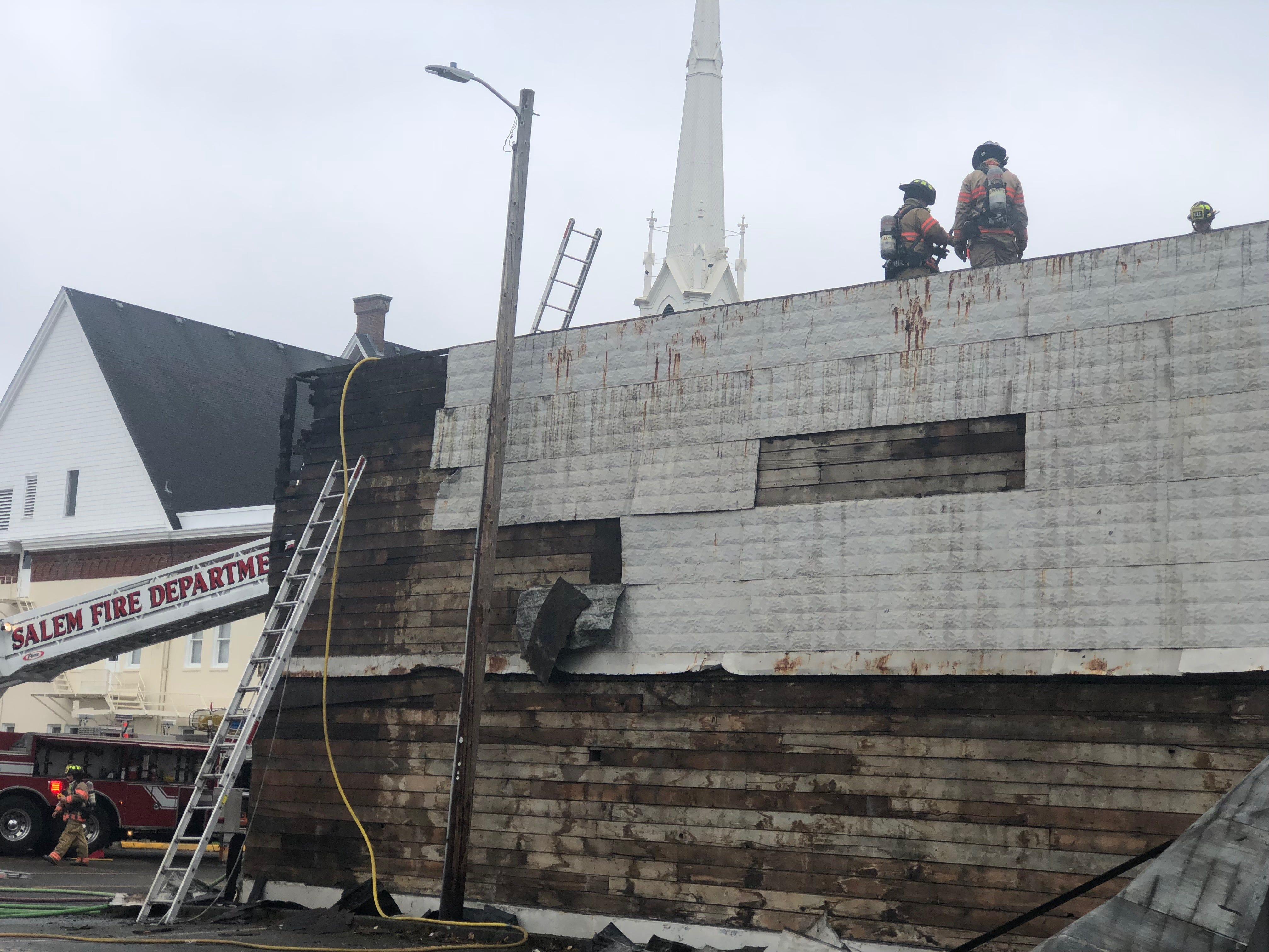 Fire extinguished near First Methodist Church in Salem