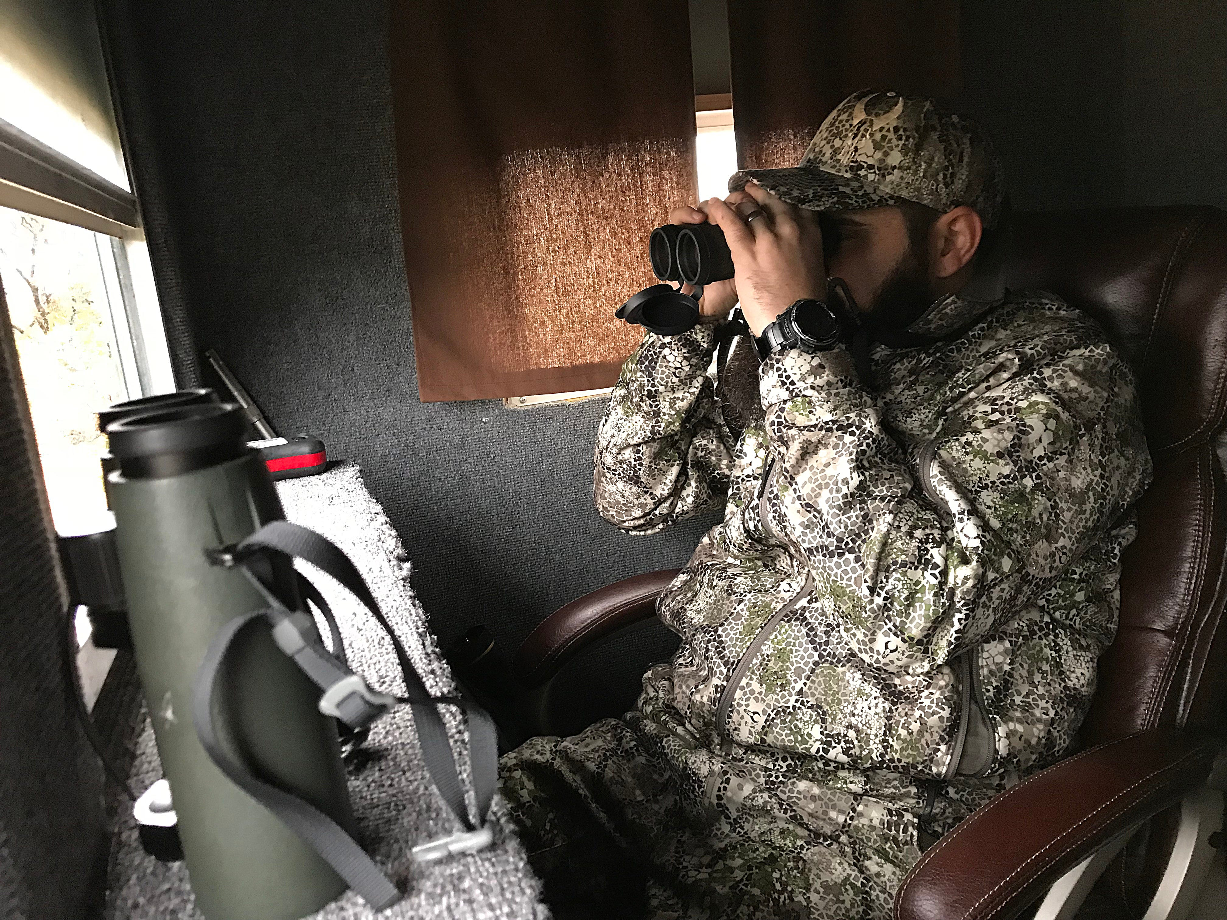 Veteran Joseph Lewis watches for deer during the annual deer hunt in Christoval Friday, Dec. 7, 2018 sponsored by San Angelo Support for Veterans and Lone Star Warriors Outdoors.The hunt included 18 combat injured veterans from across the nation.